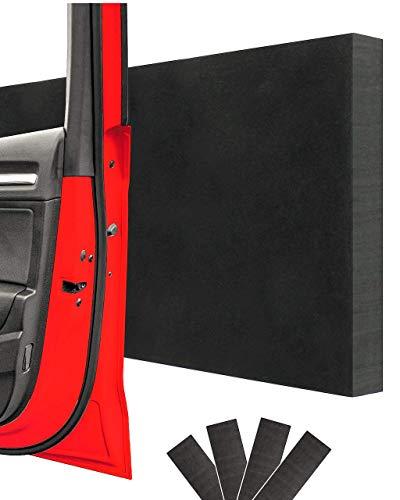 STRACKS® Türkantenschutz selbstklebend 4er Set – 43x15x1,5cm – Schützt alle 4 Autotüren – Garagen Wandschutz – Premium Türschutz Pads für die Garage, Carport