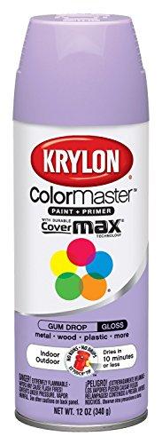 Krylon K05151302 K05151307 ColorMaster Paint + Primer, Gloss, Gum Drop, 12 oz.