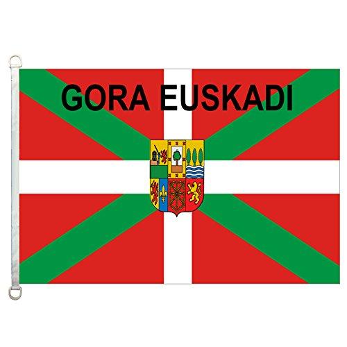 homeking país Vasco Gora Euskadi Banderas Banner 3x 5ft 100% poliéster, 110g/m² Warp Tejido de Punto