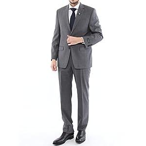 (ローレン ラルフ ローレン) LAUREN RALPH LAUREN ウール100% ストライプ ウルトラフレックス シングル 2つ釦 スーツ [RL1RZ2375S8]グレー / 52