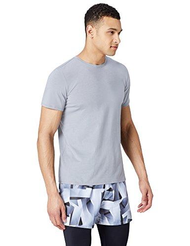 Amazon-Marke: find. Sport Top T-Shirt Herren, Grau (Sharkskin), L, Label: L