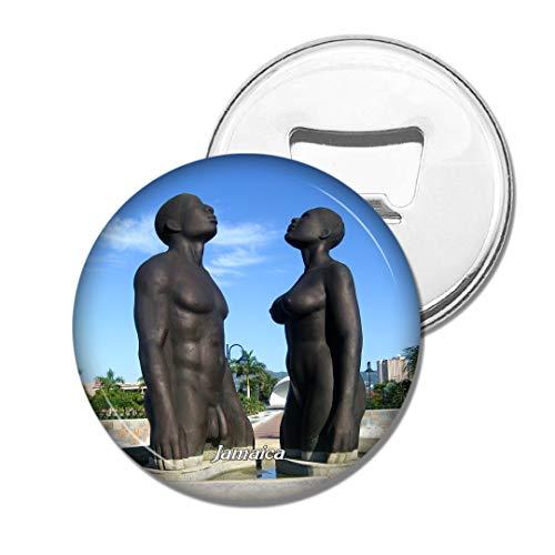 Weekino Statue Jamaika Bier Flaschenöffner Kühlschrank Magnet Metall Souvenir Reise Gift