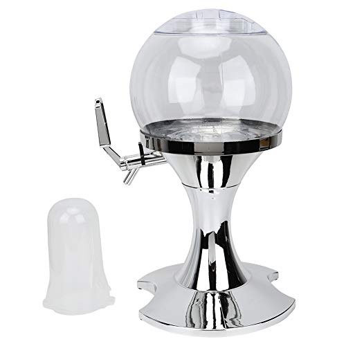 Candeon Dispensador de Cerveza Beverage-3.5L Silver Spherical Shape Dispensador de Cerveza Herramienta de dispensación de Bebidas Bar Club Accesorios