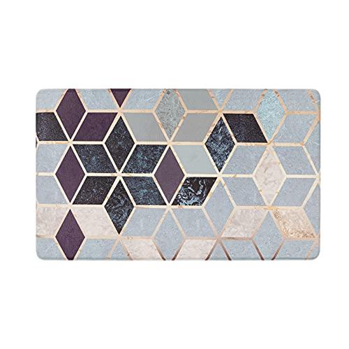 U'Artlines Anti Fatigue Kitchen Floor Mat, Comfort Heavy Duty Standing Mats,Waterproof PVC Non Slip Washable for Indoor Outdoor (17x30Inch, Geometric Patterns)