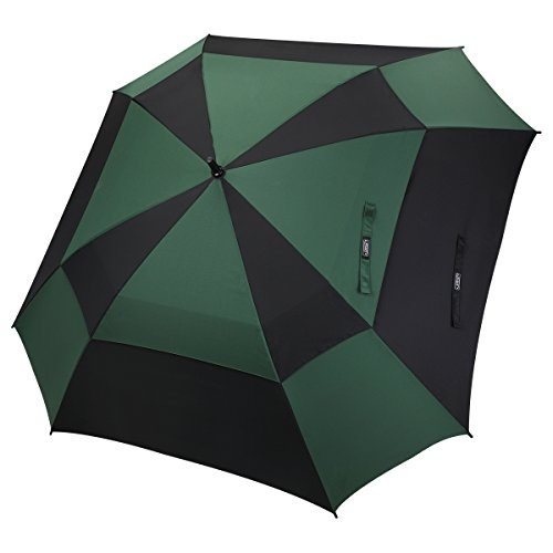 G4Free 62/68 Inch Automatische Open Golf Umbrella Doppelte Baldachin Quadratischen Regenschirm Extra Große Belüftete Winddicht Stick Regenschirme für Männer und Frauen