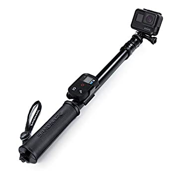 """SANDMARC Pole - Black Edition  17-40"""" Waterproof Extension Pole  Selfie Stick  for GoPro Hero 9 8 Max 7 6 Fusion Hero 5 4 3 - with Remote Clip"""