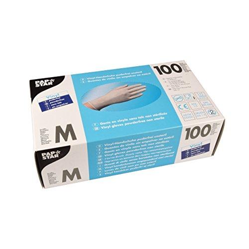 PAPSTAR Handschuhe Vinyl/12233 M natur Inh.100