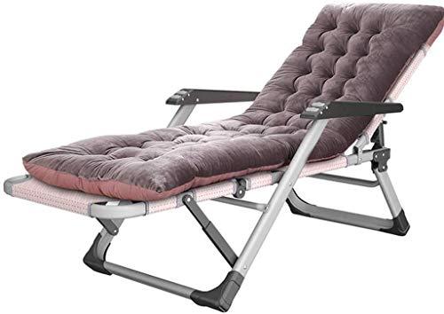 WDHWD - Sillón reclinable reclinable para exteriores, sillón reclinable extragrande, sillón individual acolchado, para las personas más resistentes, tumbona