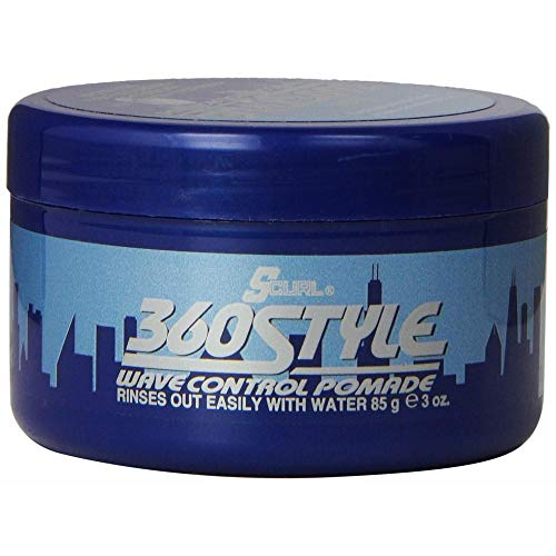 Lusters S-Curl 360 Wave Control Pomade 3 Ounce (88ml) (2 Pack)