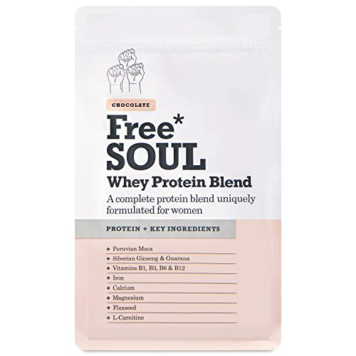 Free Soul Whey Protein Powder | Formulated for Women | 600g | 20g Protein | Added Nutrients | Gluten & Soy Free Nutrition Protein Shake | Supports Hormone Balance, Mood, and Energy (Chocolate)