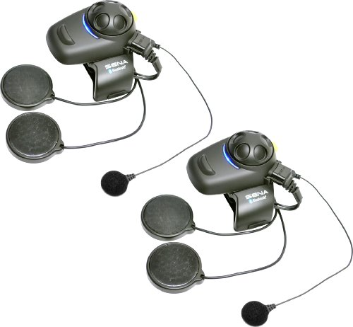 """Sena SMH5D-FM-02 Bluetooth-Headset und Gegensprechanlage mit integriertem FM-Tuner für Roller und Motorräder, Doppelpack-Set für Vollvisier-Helme """"vom Hersteller eingestellt"""""""