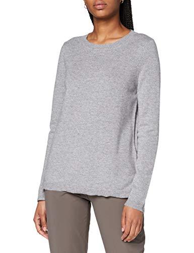 GERRY WEBER Damen 1/1 Arm Pullover Sweater, Light grey, DE 44