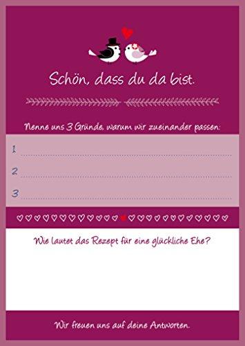 Edition Colibri 10821, 52 ansichtkaarten voor bruiloftsspel, set 2,