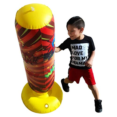 Children's Punching Bag Bounce Back Free Standing Punching Bag Great for Karate or Martial Arts Practice and Hyper Active Children