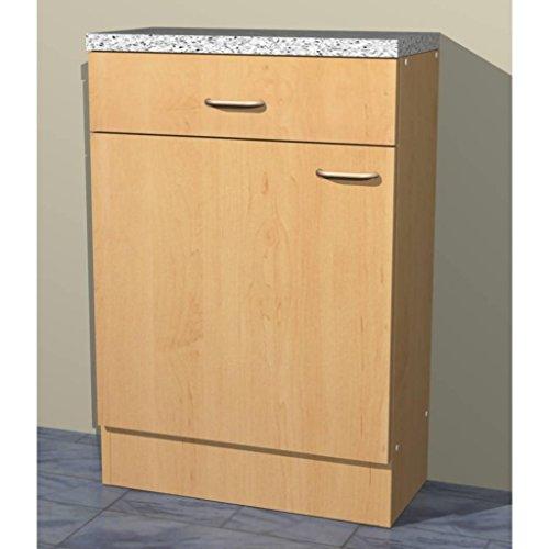 Unterschrank Küchen Mehrzweckschrank in verschiedenen Breiten Start Melamin Buche/Buche (60cm breit)