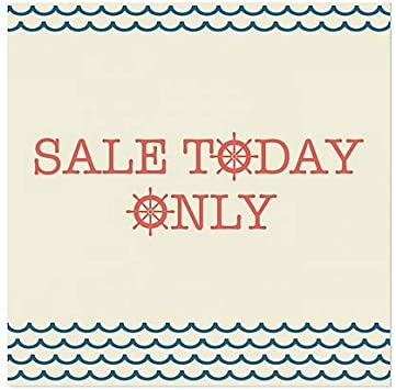 CGSignLab Sale Today Only 24x24 Nautical Wave Clear Window Cling 5-Pack