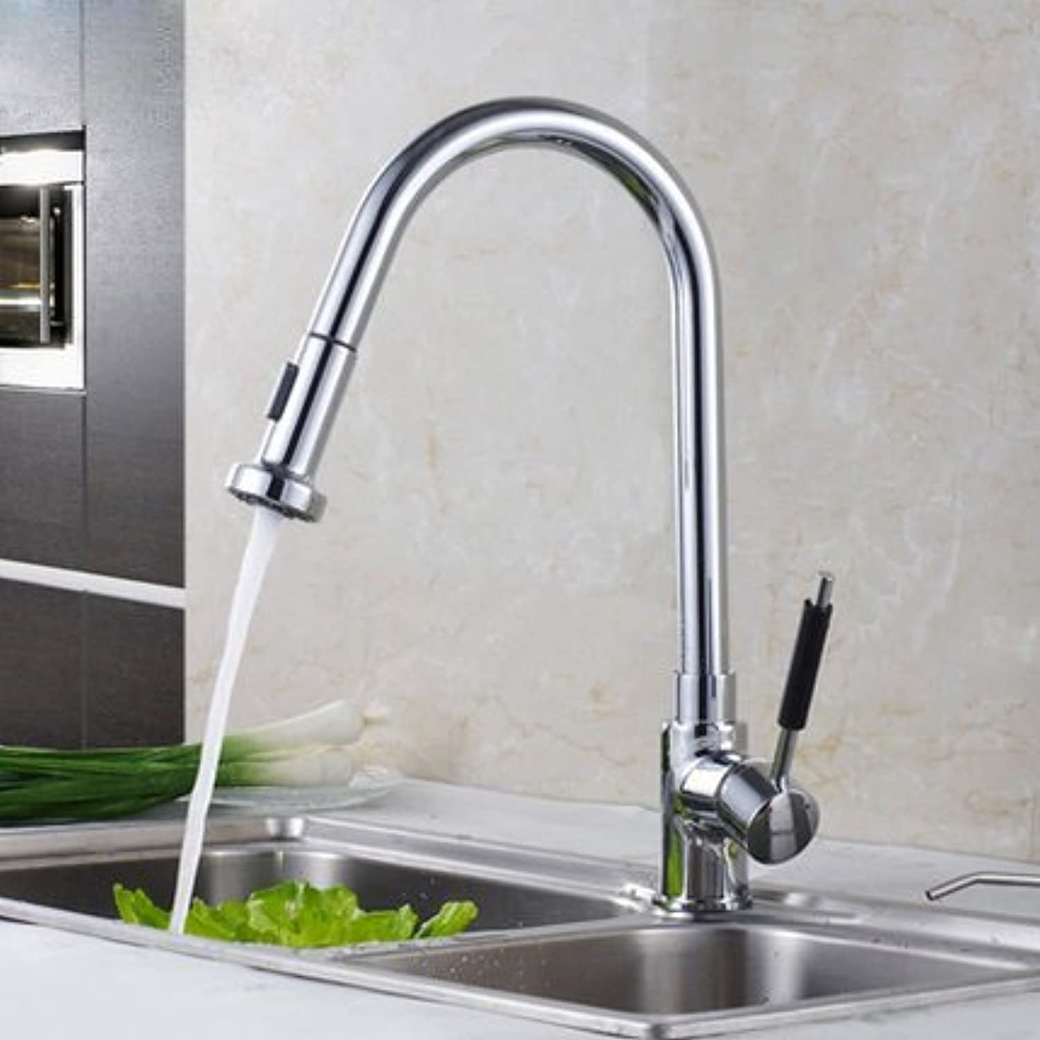 Hlluya Professional Sink Mixer Tap Kitchen Faucet The copper kitchen faucet and cold water slot pull Faucet
