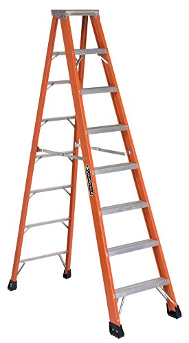 Louisville Ladder FS1308HD 375-Pound Duty Rating, Fiberglass Step Ladder, 8-Feet, Orange