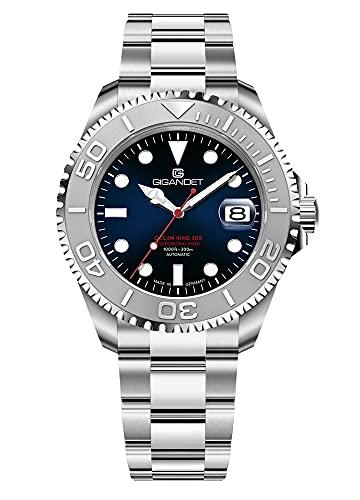 Gigandet Ocean King G404-003M - Reloj automático para hombre (fabricado en Alemania, cristal de zafiro, acero inoxidable, sumergible a 300 m, 30 bares)