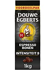 Douwe Egberts Koffiebonen Espresso (4 Kilogram, Intensiteit 09/09, Dark Roast Koffie), 4 x 1000 Gram