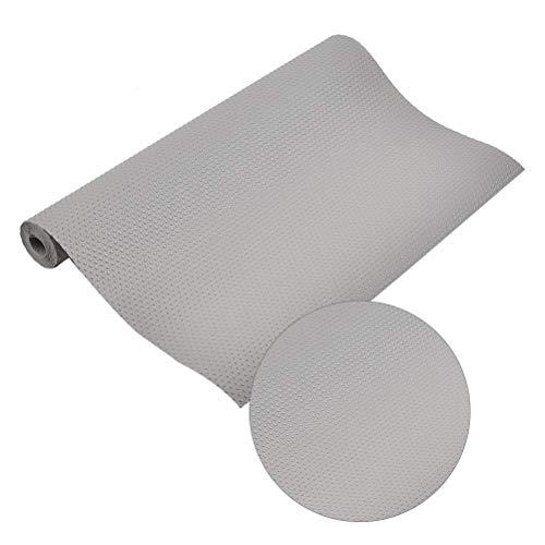 ATPWON Schubladenmatte Anti-Rutsch Matte Für Schubladen und Regale Wasserdicht Feuchtigkeitsabweisend (200 * 40cm, 3 Rolle, grau)
