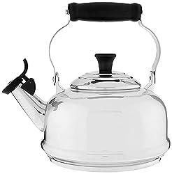 commercial Le Creuset Stainless Steel Pipe Teapot, 1.7qt. le creuset kettle