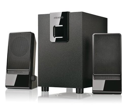 Microlab M-100 Aktivbox 2.1 Lautsprechersystem (10 Watt RMS) schwarz