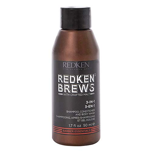 REDKEN Brews 3-in-1 Shampoo, Conditioner and Body Wash for Men, 50 ml...