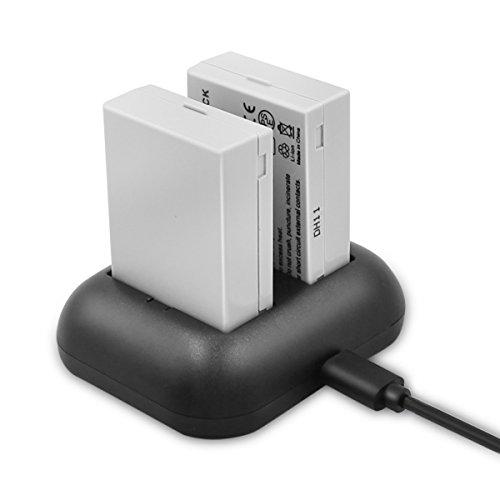 ENEGON Batería de Repuesto (Paquete de 2) y Cargador rápido rápido para Canon LP-E8 y Canon EOS Rebel T2i, T3i, T4i, T5i, EOS 550D, 600D, 650D, 700D, Kiss X4, X5, X6, X6i, X7i y LC-E8E Cámara Digital