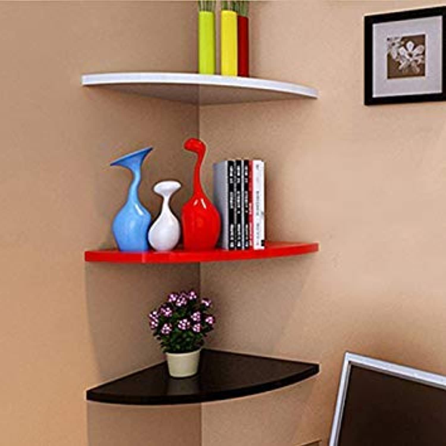 Generic Red   1pcs Creative Partition Frame Wall Rack Wall Bookshelf Floating Shelves Sitting Room Corner Shelves Decorative