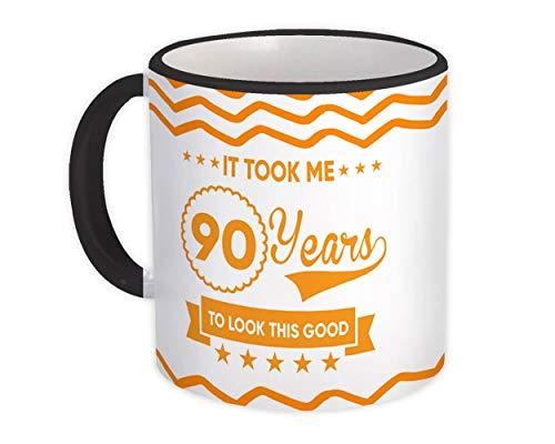 90 års födelsedag : Gåva Mugg : Det tog mig att se så bra nittio