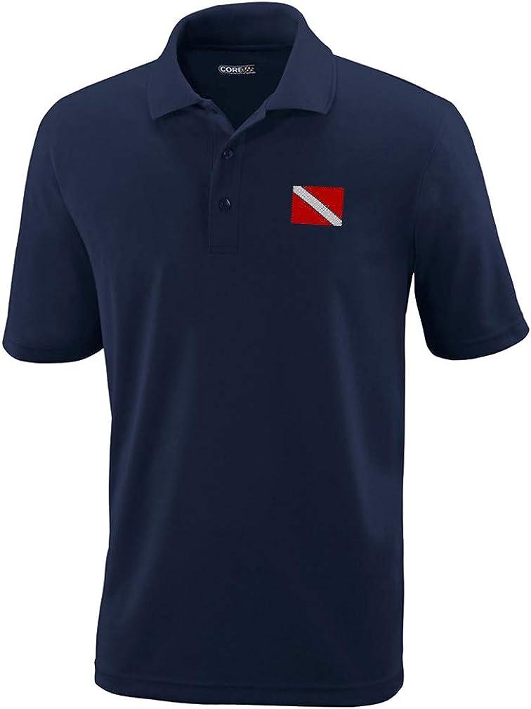 Speedy Pros Polo Performance Shirt famous Flag Scuba Embro Latest item Sport Diving
