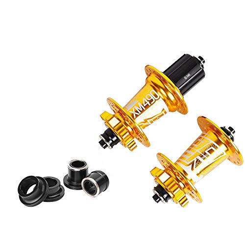 DIYARTS Bicycle Hub 1 Pair 2 Versions 4 Bearings 32 Holes 72 Rings Aluminum Alloy Quick Release...