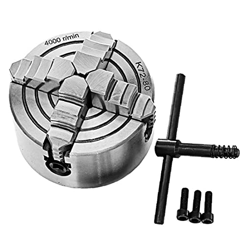 SANOU Torno Chuck 4 de mandíbula Independiente metal autocentrado fresado Pieza de máquina, acoplamientos y accesorios
