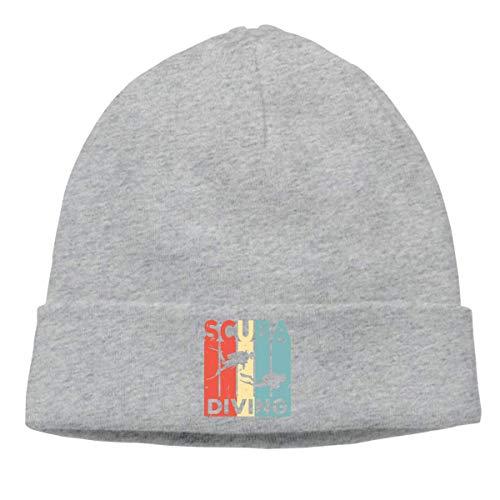 Lawenp Gorra de lana suave para unisex, gorra vintage de buceo con escafandra