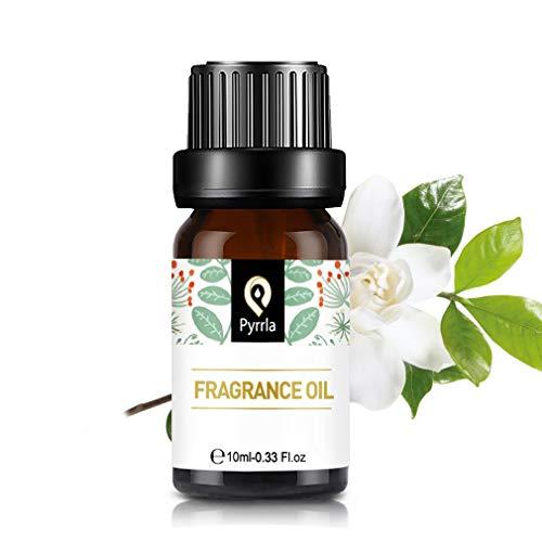 Pyrrla Aceites de Fragancia, Aceites Esenciales para Humidificador, Aromaterapia para Hogar, Oficina 10ml - Gardenia