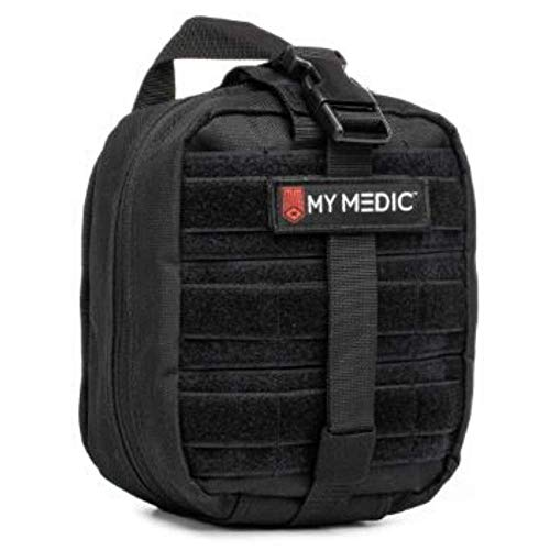 My Medic MyFak First Aid Kit - Water Resistant Bag, Bandages, Burn Aids, CPR Shield, Survival First Aid Kit, Airway, Tourniquet, Stainless Steel Instruments - Advanced - Black