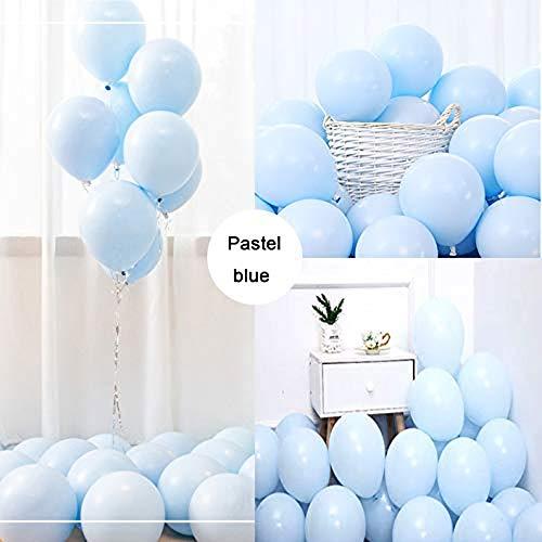 O-Kinee LAKIND Luftballons Pastell Blau 100-Pack 10 Inch Bunte Latex Ballons Luftballons Bunt Latexballons für Hochzeit Weihnachten Geburtstag Luftballon Party Deko(Macaron Blau-100pcs)