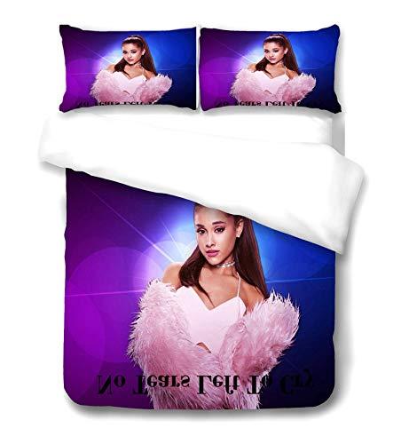 Ariana Grande Duvet Cover Bulletproof Boy Scouts Bettwäsche Mit Kissenbezug 100% Mikrofaser 3D-Druck Für Teenager Für Jugendliche Erwachsene,1,Single 135x 200CM