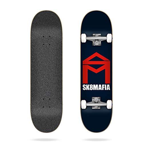 SK8MAFIA House Logo Navy - Skateboard completo per adulti, unisex, multicolore, 18 x 31 cm