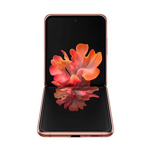 "Samsung Galaxy Z Flip 5G Smartphone, Display ext. 1.1"" Super AMOLED/int. 6.7"" Dynamic AMOLED, 256GB, RAM 8GB, Batteria 3300mAh, 5G, Single Sim/eSim, Android 10, Marrone"