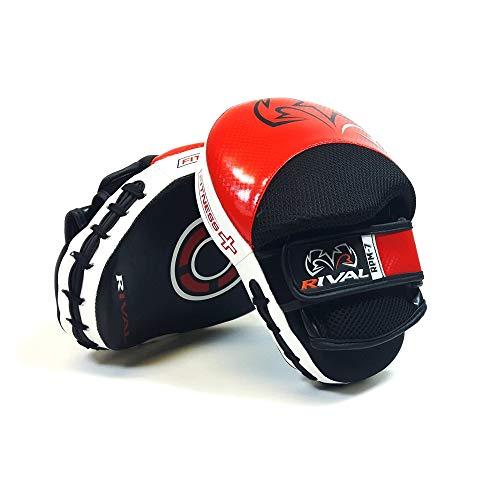 Rival RPM7 Fitness Plus - Manoplas de Entrenamiento (Piel), Color Rojo y Negro