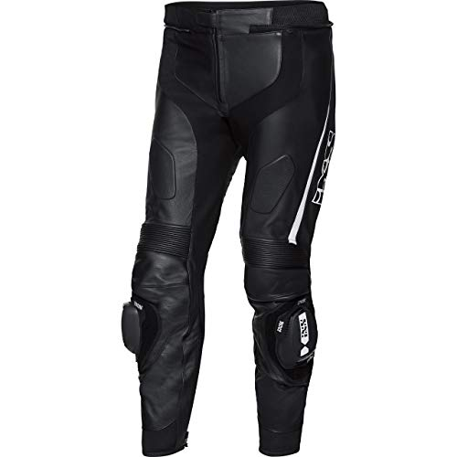 IXS Motorradhose Sport LD Hose RS-1000 schwarz/weiß 62, Herren, Sportler, Ganzjährig, Leder