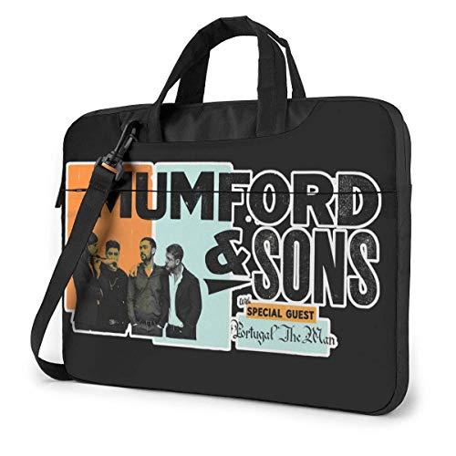 AmyNovelty Tragetasche,Mumford Sons Laptop-Hülle, Tragbare Umhängetaschen Für Das Reisegeschäft,40x29x2cm