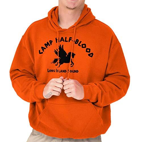Brisco Brands Camp Half Blood Greek Mythology Hoodie Sweatshirt Women Men Orange