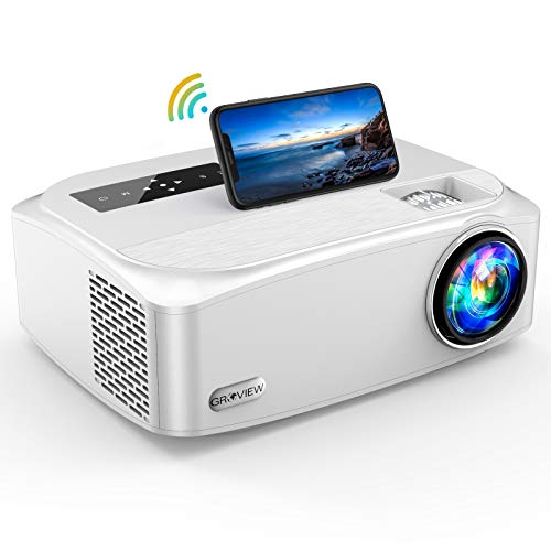 "Native 1080P Projector, GROVIEW 7500Lux Full HD 5G/2.4G W-Fi Projector , LCD Projector Max 300"" Display , 4K Video Support ,Home Outdoor Movie Projector, Compatible with TV Stick, PS4, HDMI,iOS,USB"