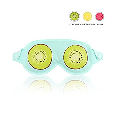 Cooling Gel Eye Mask for Puffy Eyes, Sleep Cold Eye Mask for Dry Eyes, Dark Circles - Kiwi