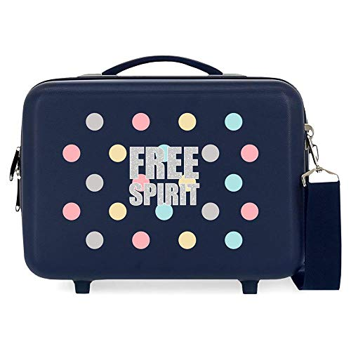 MOVOM Free Dots Nececer Adaptable Azul 29x21x15 cms ABS