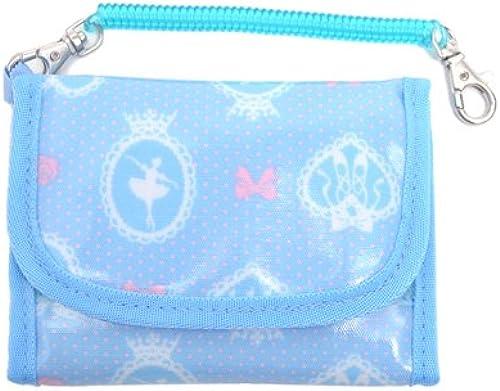 Der erste angeregte Brieftasche Serie Kids Brieftasche (mit Kette) in Ballerina-Spiegel (hellblau) in Japan N5506000 (Japan-Import) gemacht