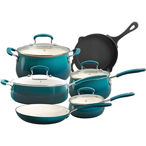 The Pioneer Woman Classic Belly 10-Piece Cookware Set